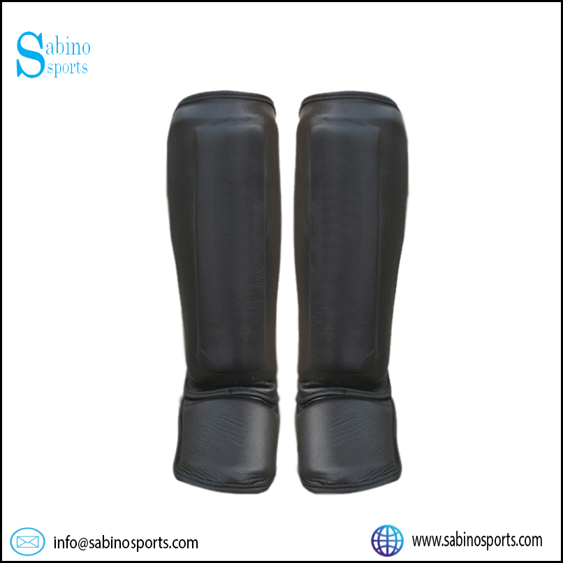 MMA Cowhide Leather Shin instep Guard