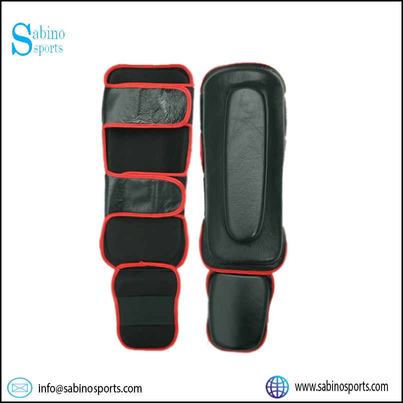 MMA Thick Cowhide Shin instep Guard