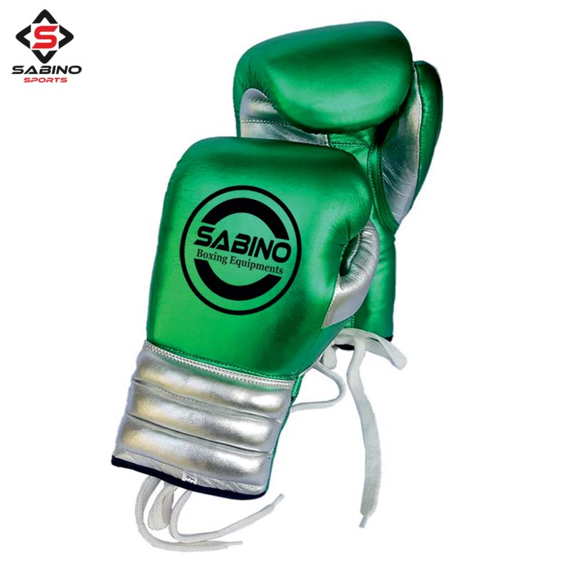 LACE UP LEATHER BOXING GLOVES