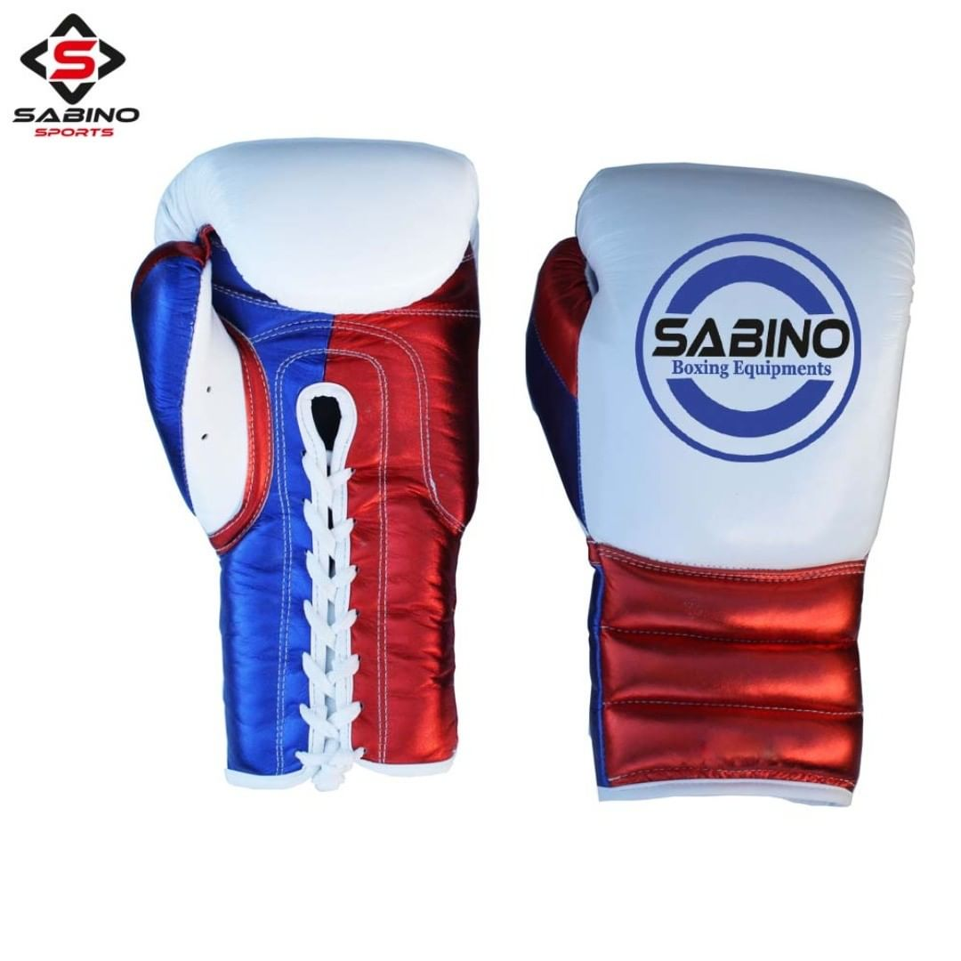 Metalic Leather Boxing Gloves