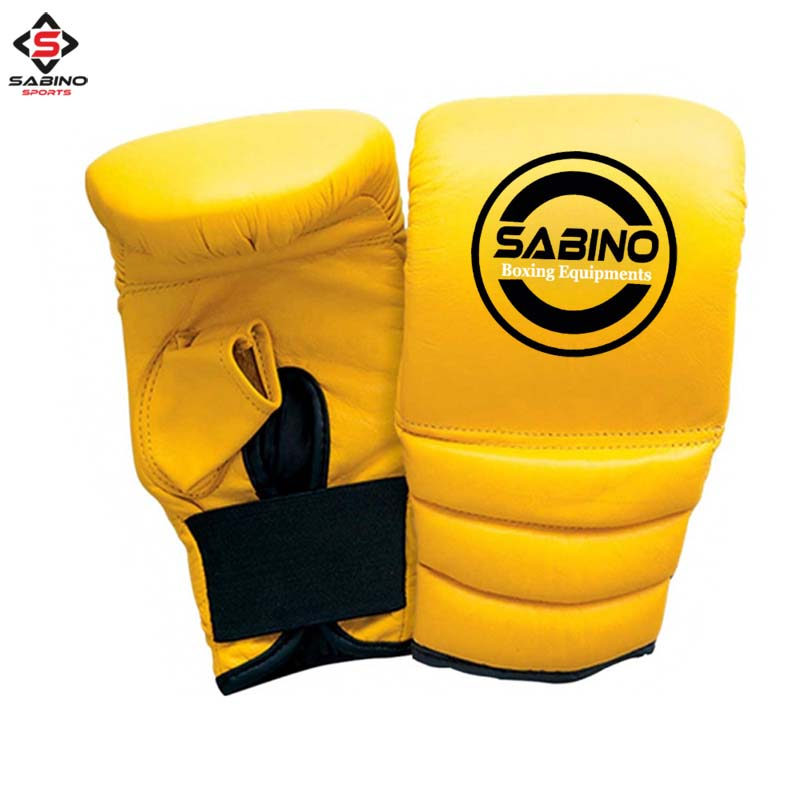 YELLOW BOXING MITTS GLOVES