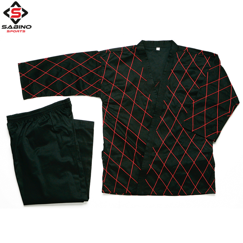 HAPKIDO Black with Red Stitch Uniforms