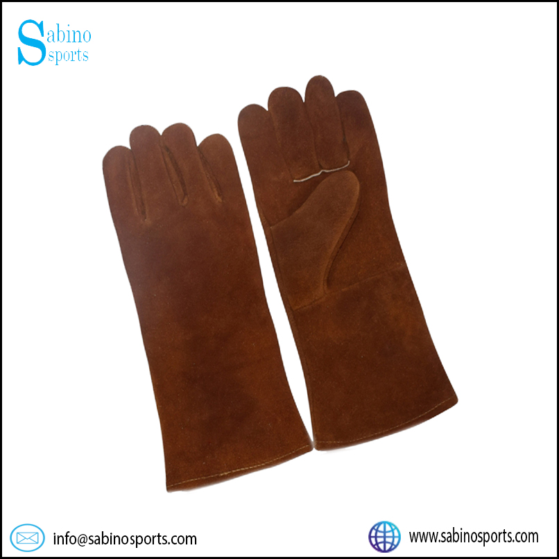 Brown Cowhide Split Leather Welding Glove