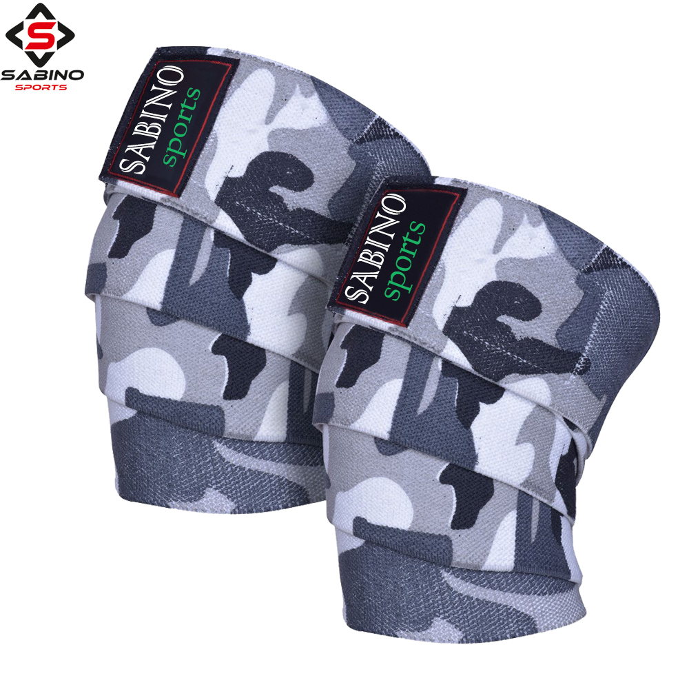 Weightlifting Cotton Elastic Knee Wraps